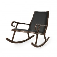 Clay low rocking chair