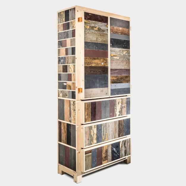 Classic cupboard in scrapwood