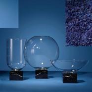 Podium Cylinder Black Marble