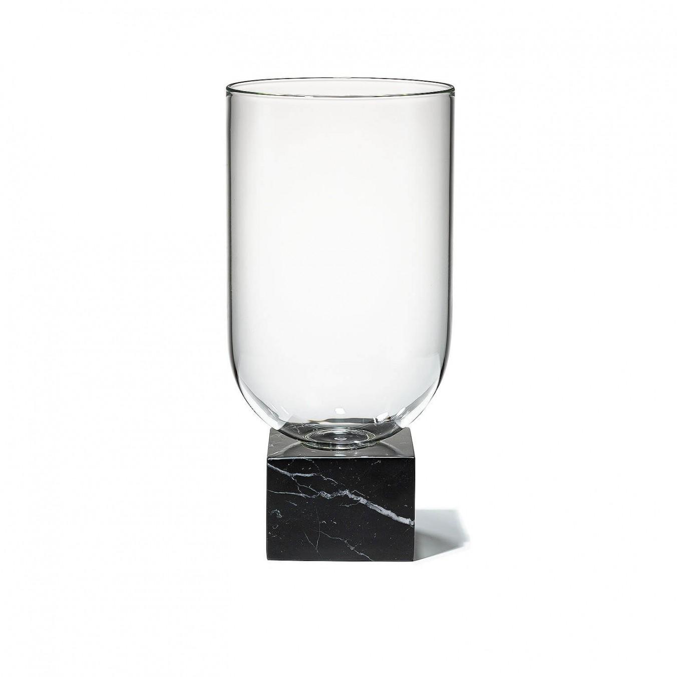 Podium Cylinder Black Marble Kooku