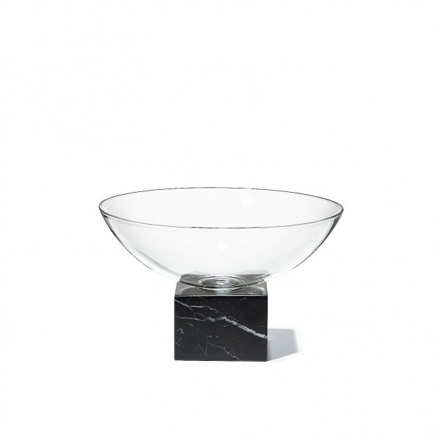 Podium Bowl Black Marble