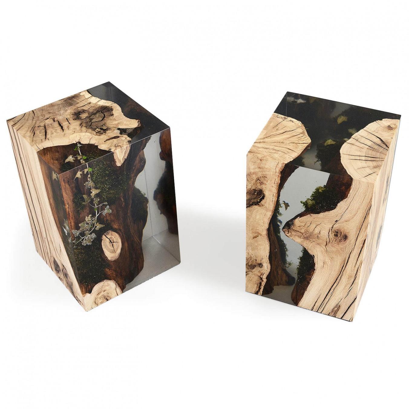 Stump Stool Oak