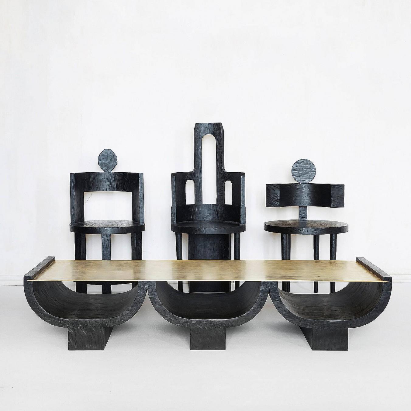 Triple Coffee Table