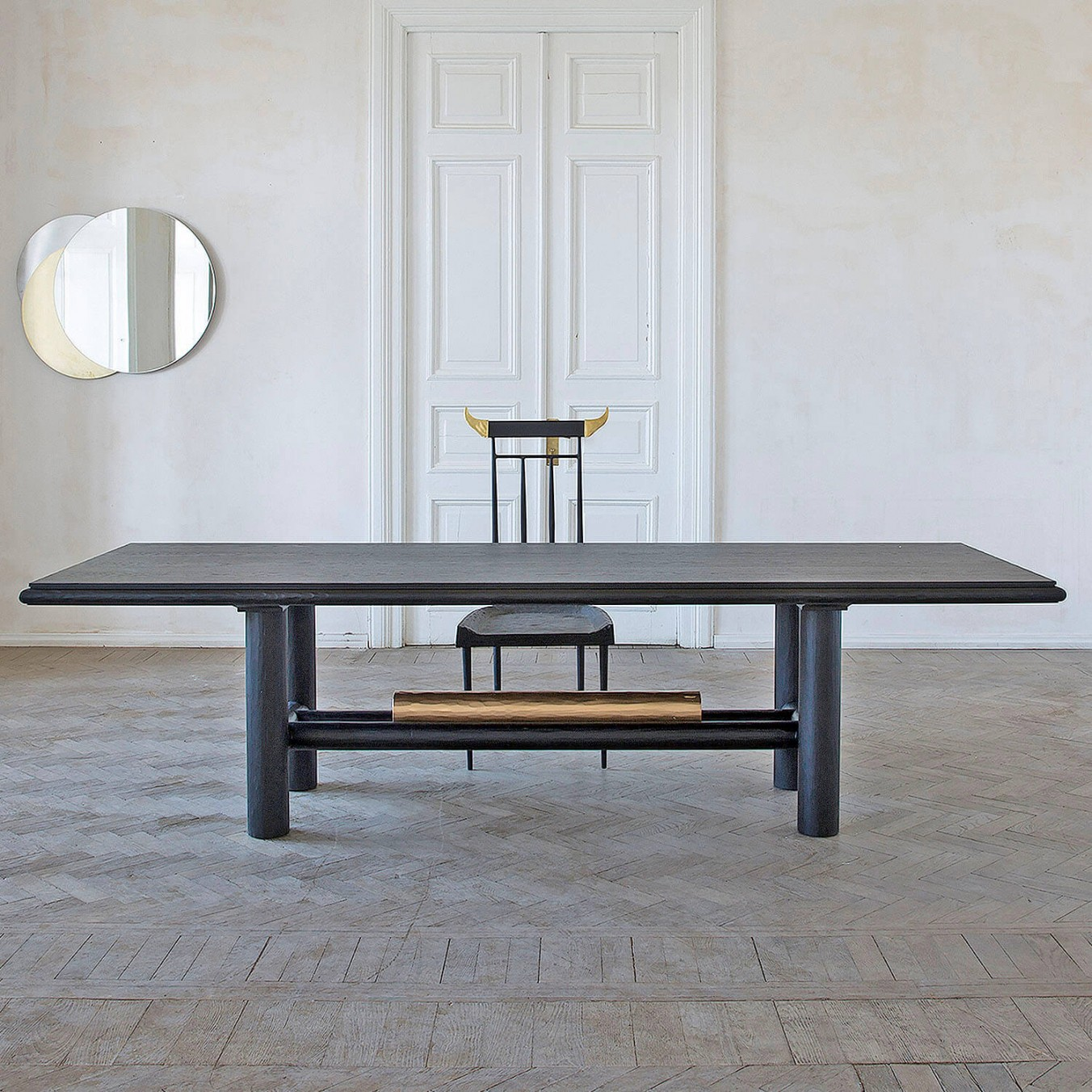 Gold Beam Dining Table
