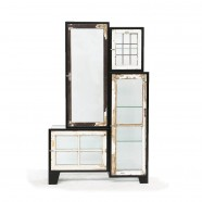 Steel old windows cabinet