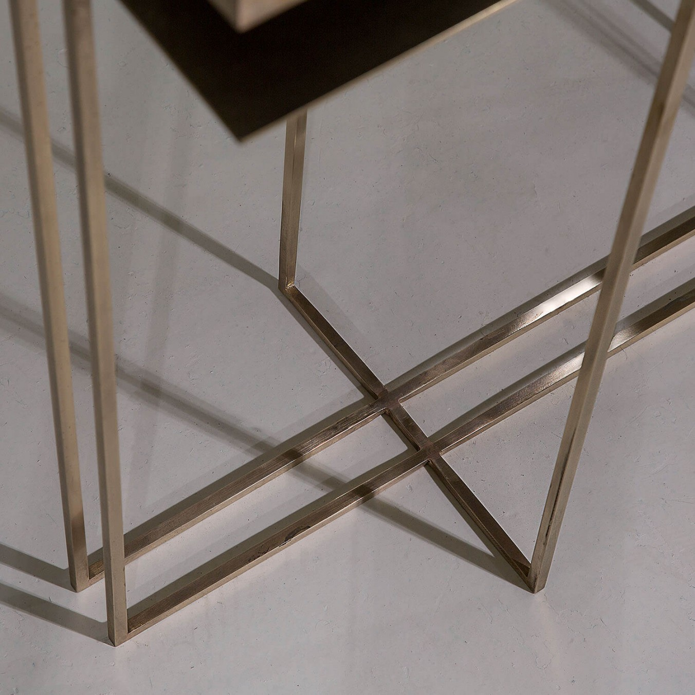 ALL BRASS CROSS BINATE Console Table