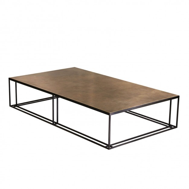 BRASS BINATE Large Coffee Table