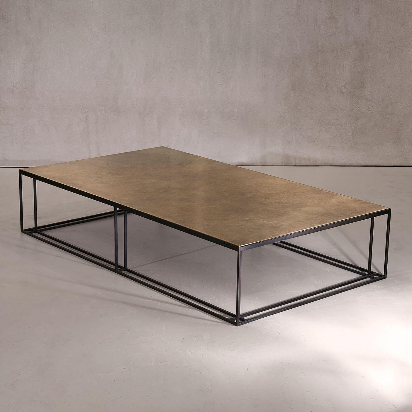 BRASS BINATE Large Coffee Table
