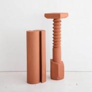 Spiral Terracotta Pedestal