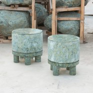LIFE ON EARTH STOOL / SIDE TABLE