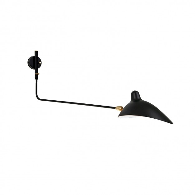 Wall Light with 1 straight pivoting arm