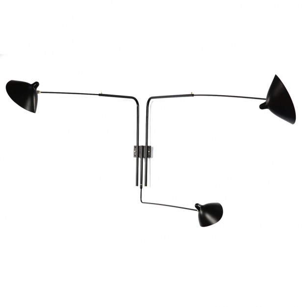 Wall Light with 3 pivoting arms