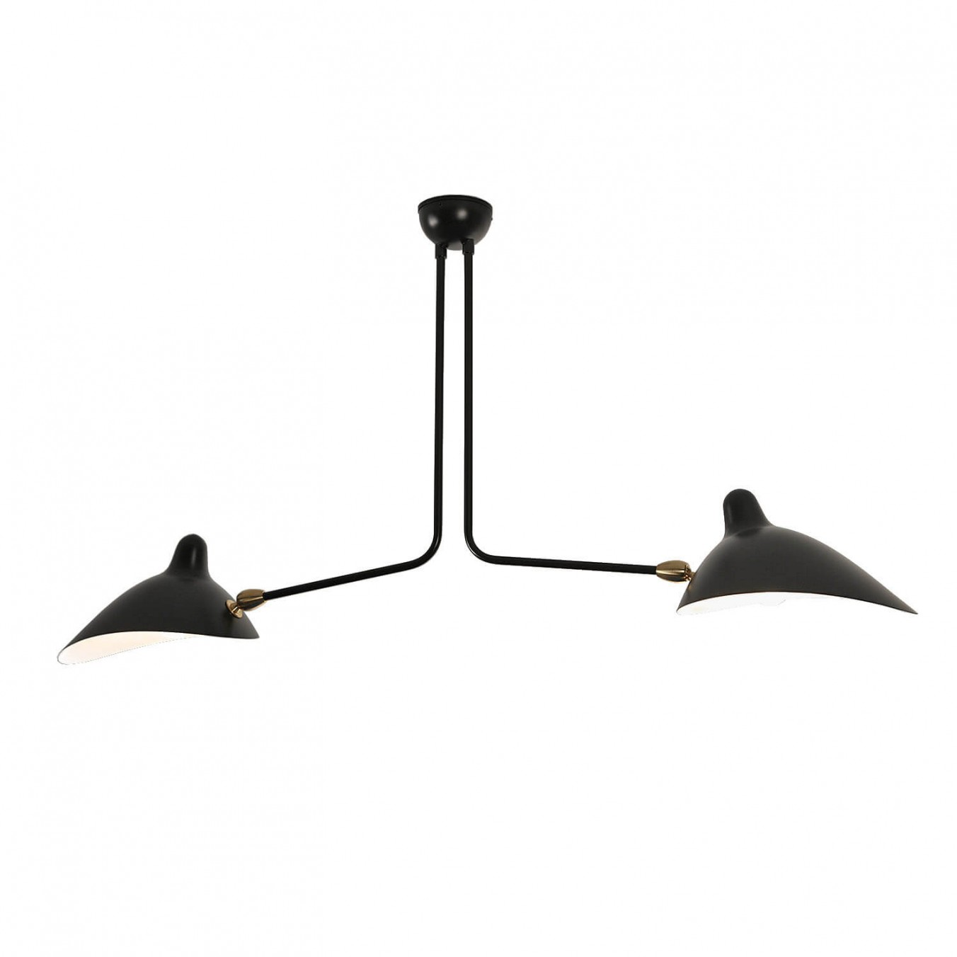 Ceiling Light with 2 fixed arms