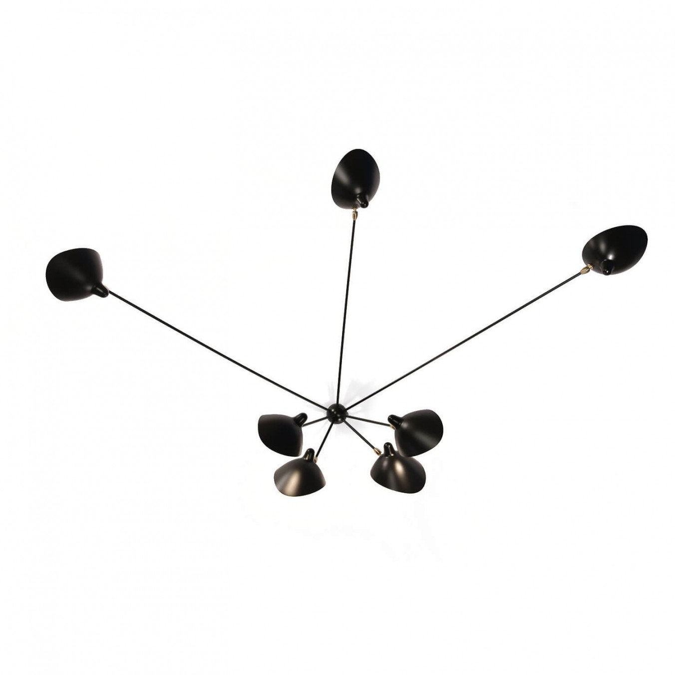 Spider Wall Light with 7 fixed arms