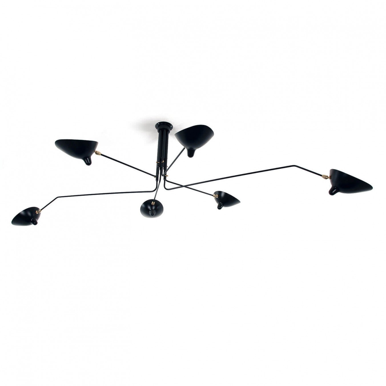 Ceiling Light with 6 pivoting arms