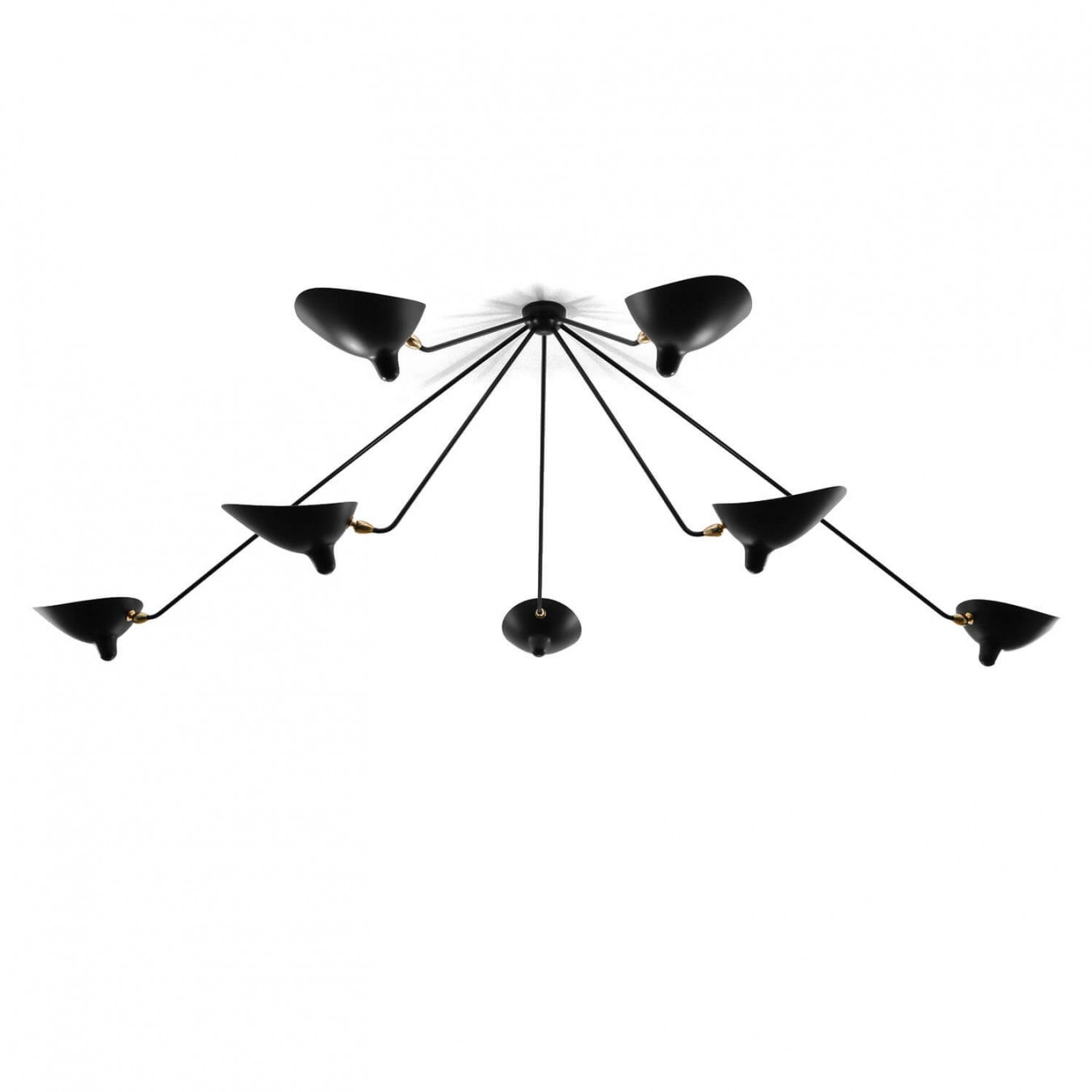 Spider Ceiling Light with 7 fixed arms