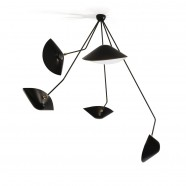 Spider Ceiling Light with 5 curved fixed arms