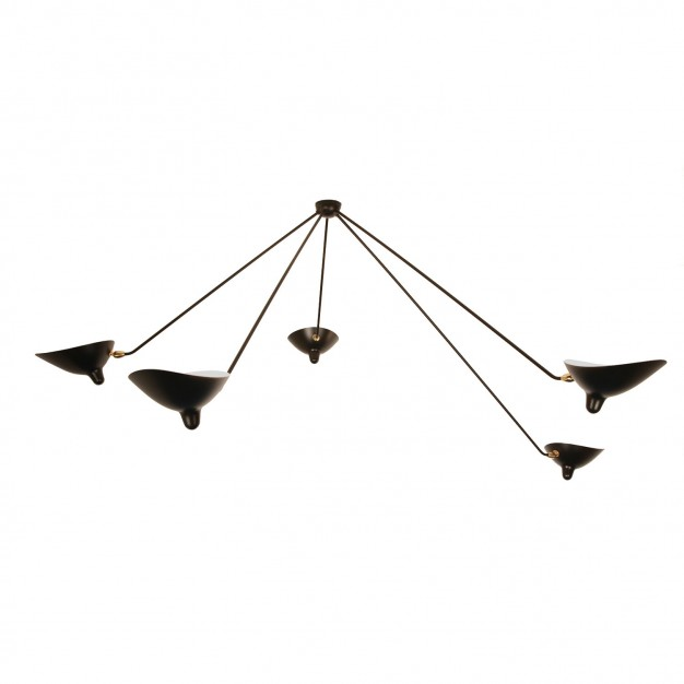 Spider Ceiling Light with 5 fixed arms