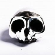 Resin Monkey Skull with Silver Mask