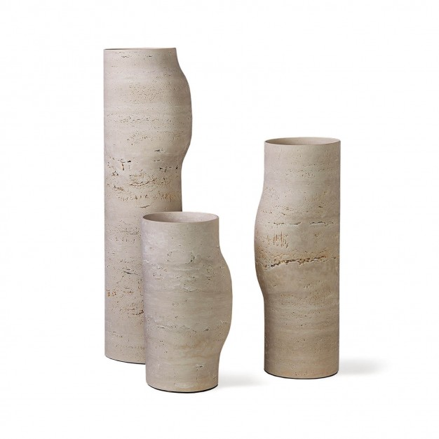 Travertine bos vases