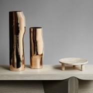 Polished Bronze Bos vases