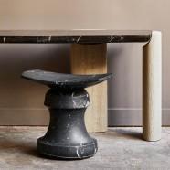 Roi stool - marble edition