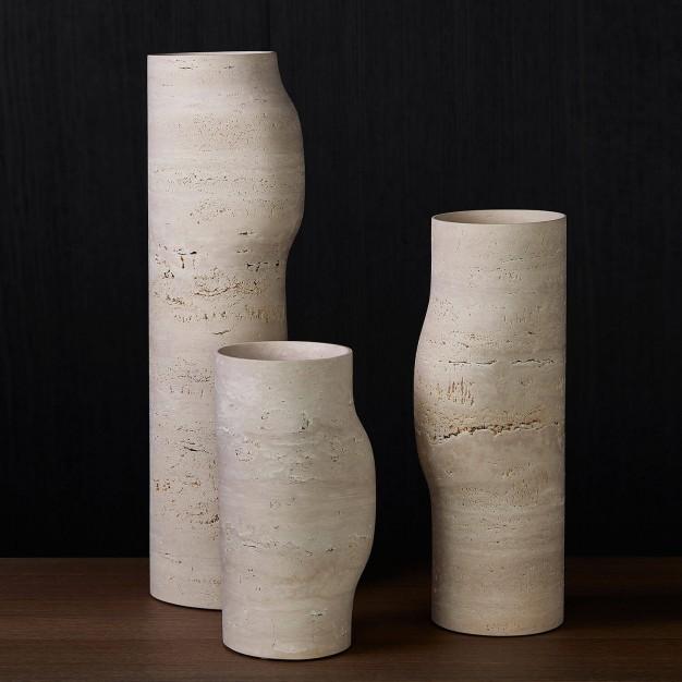 Travertine bos vases