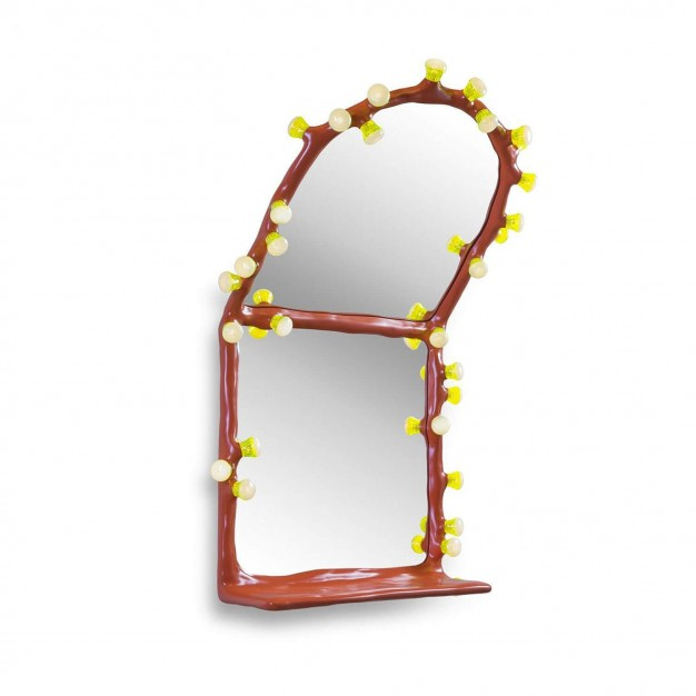 LEDS Clay Wall Mirror