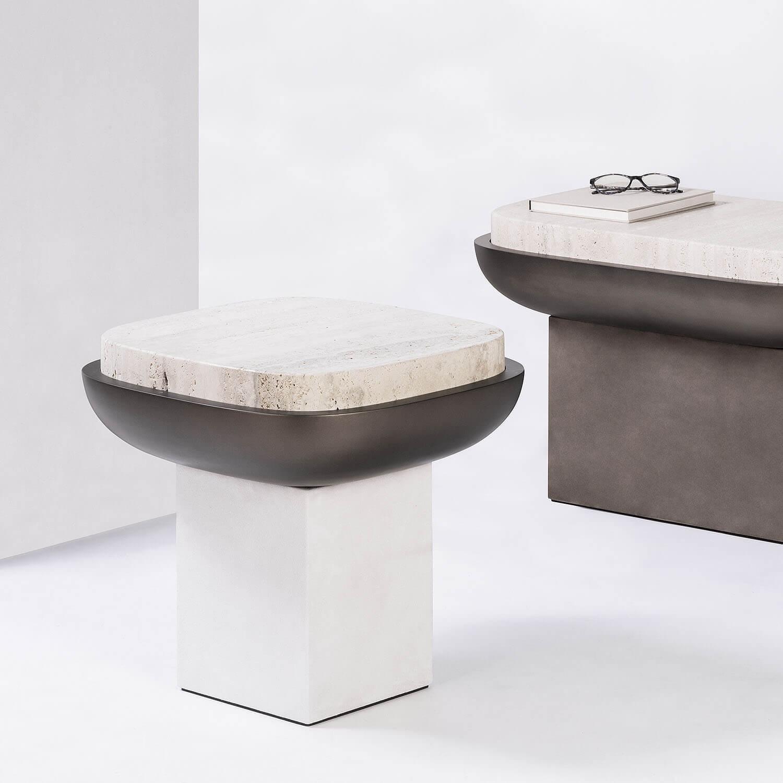 Olympia Marble Side Table | KOOKU