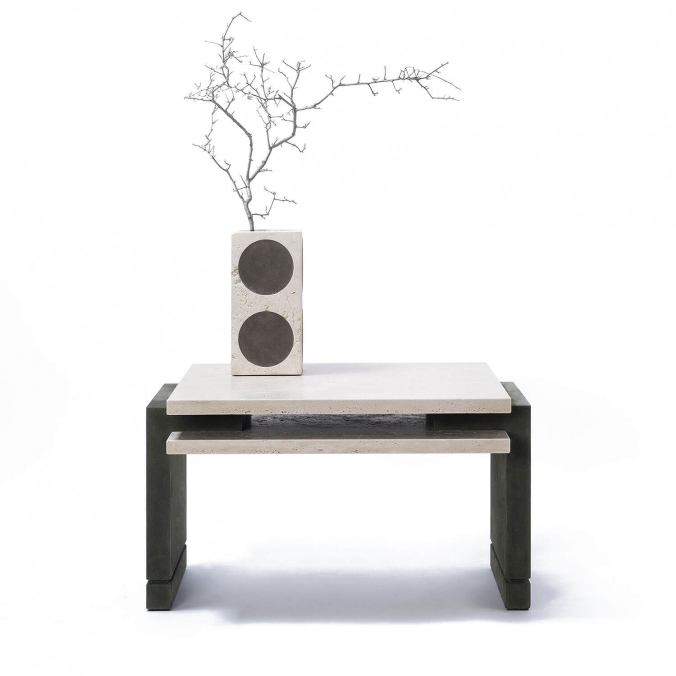 STRATOS Travertine COFFEE TABLE
