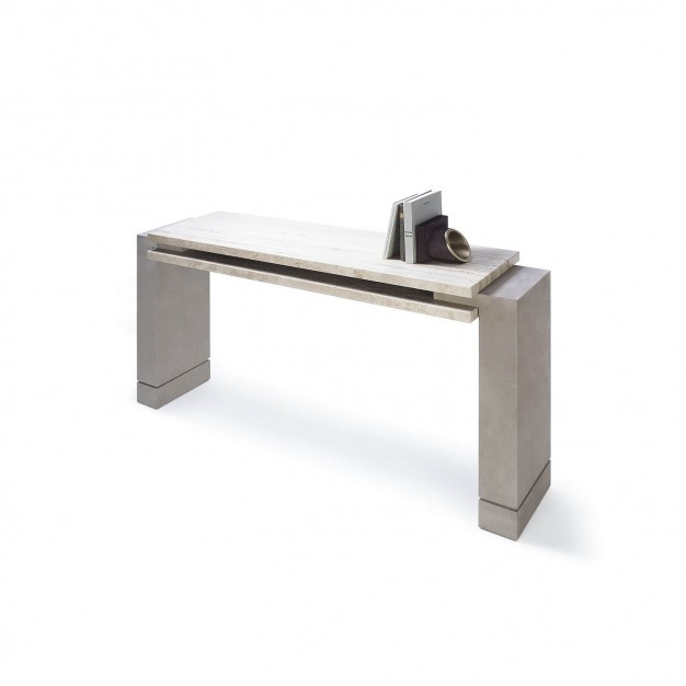 STRATOS Travertine Console
