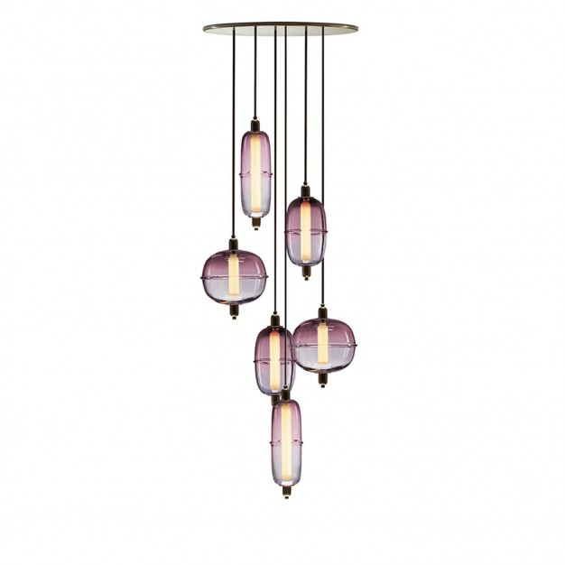 Moirai Vertical Drop Chandelier
