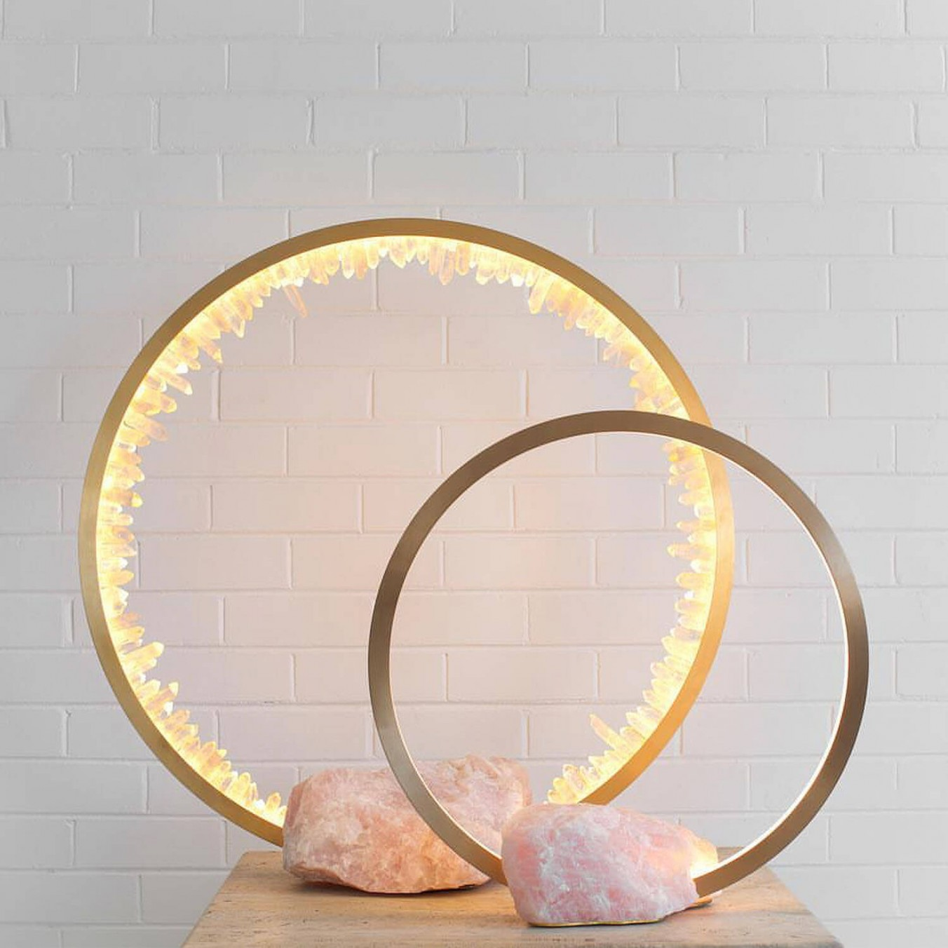 Portal table lamp Rose Quartz