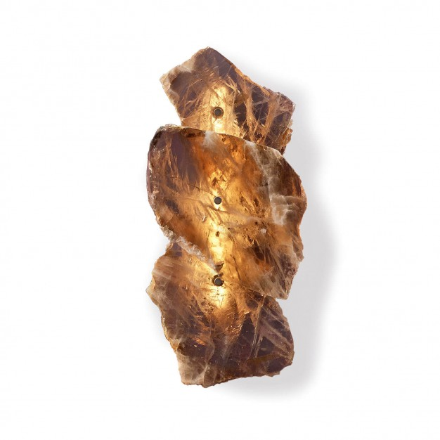 PETRA I Smoky Quartz Wall Sconce