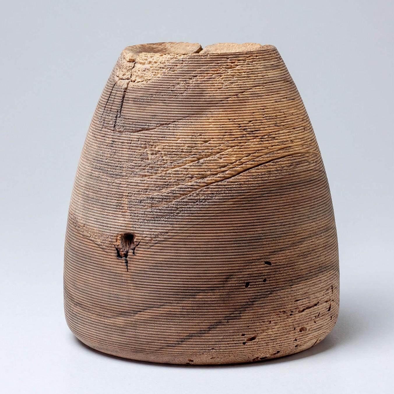 Small walnut vase