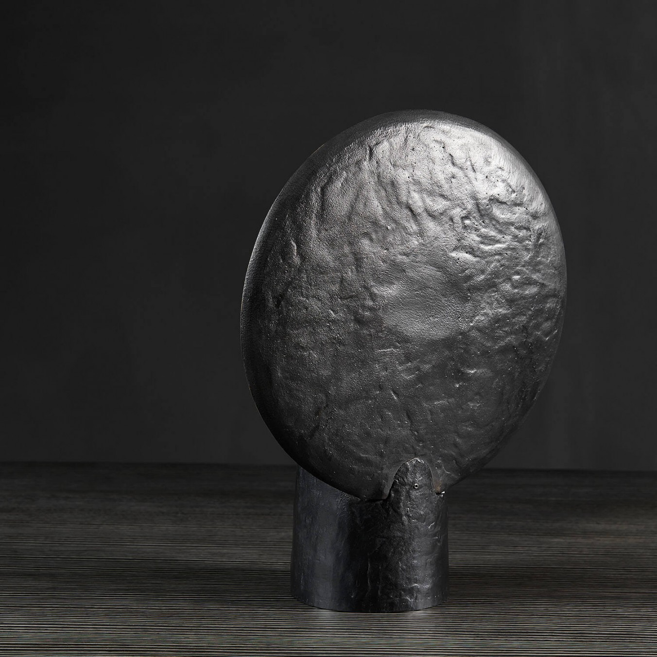 Peacock candleholder – bronze edition