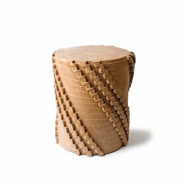 pressed stool with resin | model 1