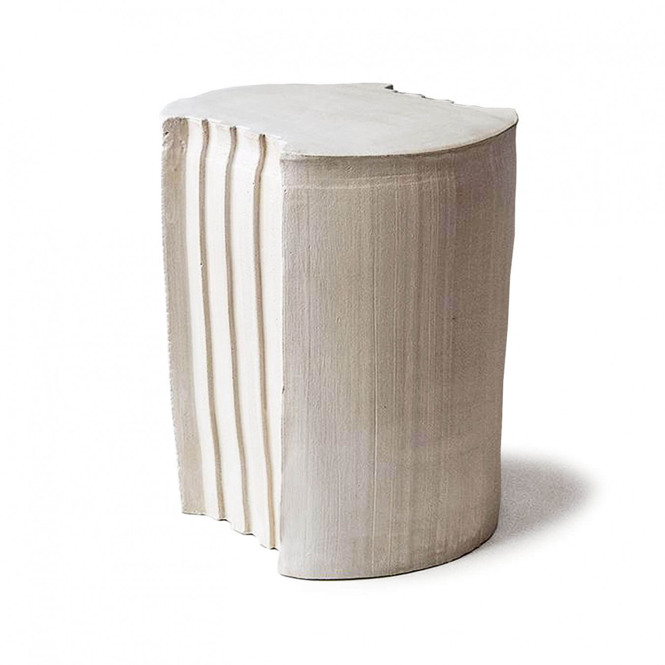 pressed stool with glaze   model 4