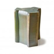 pressed stool with glaze   model 5