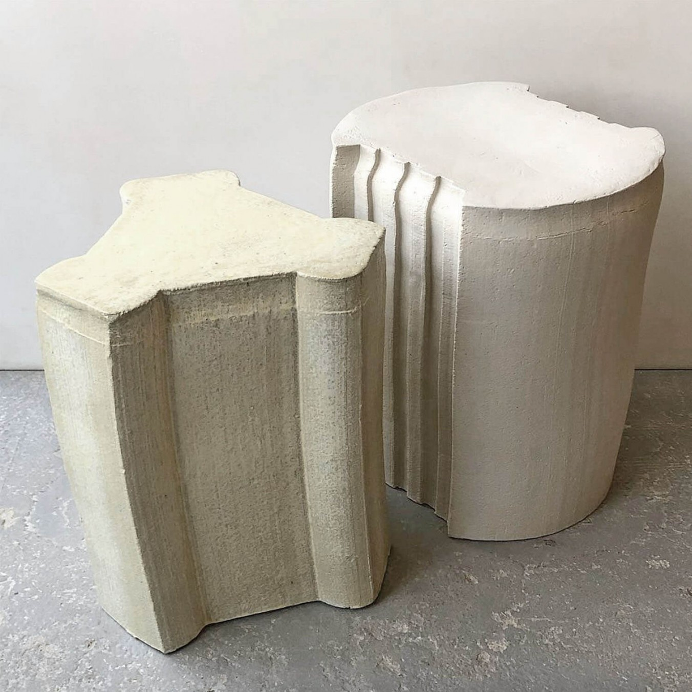 pressed stool with glaze | model 5