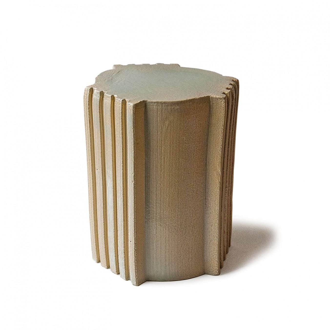 pressed stool with glaze   model 6