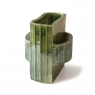 Facet two vase - small