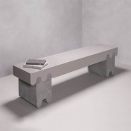 OSSICLE LEATHER BENCH N°2