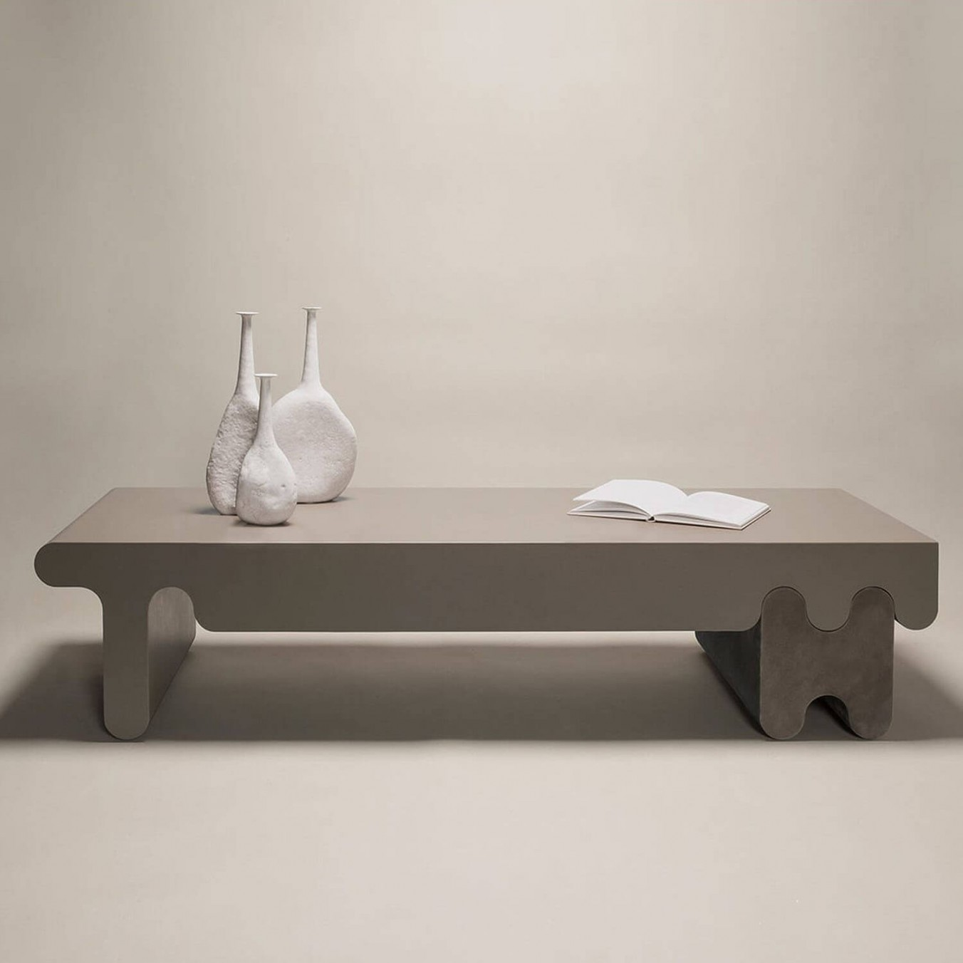 OSSICLE LEATHER COFFEE TABLE
