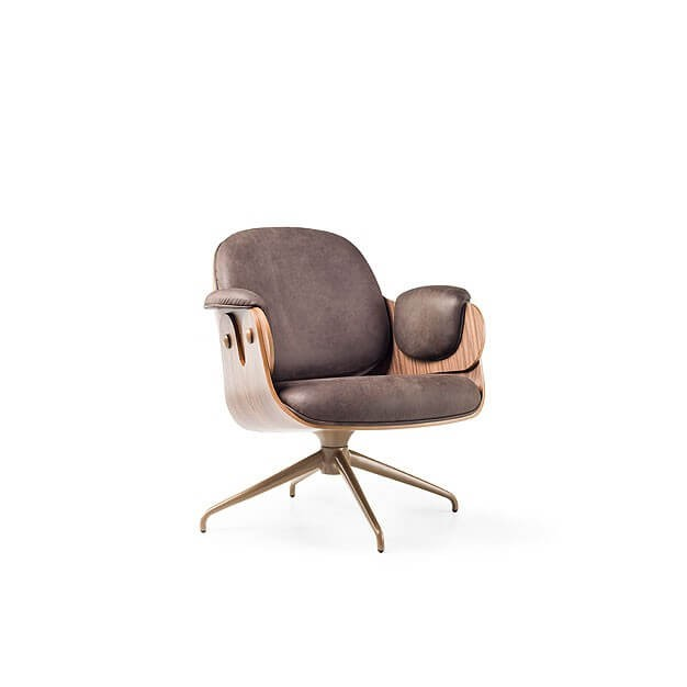 Low Lounger Swivel Armchair