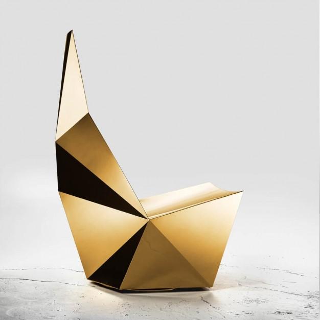 QTZ Swivel base lounge gold