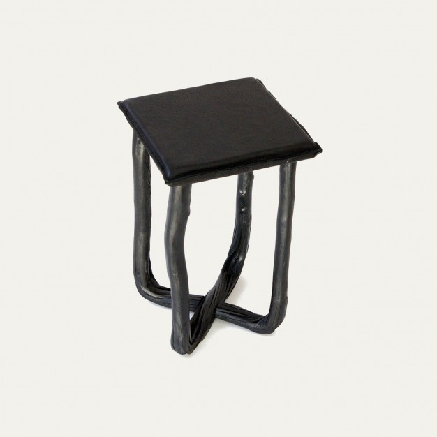 Pressed wood stool
