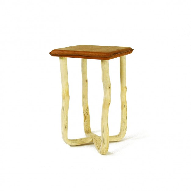 Pressed wood natural stool