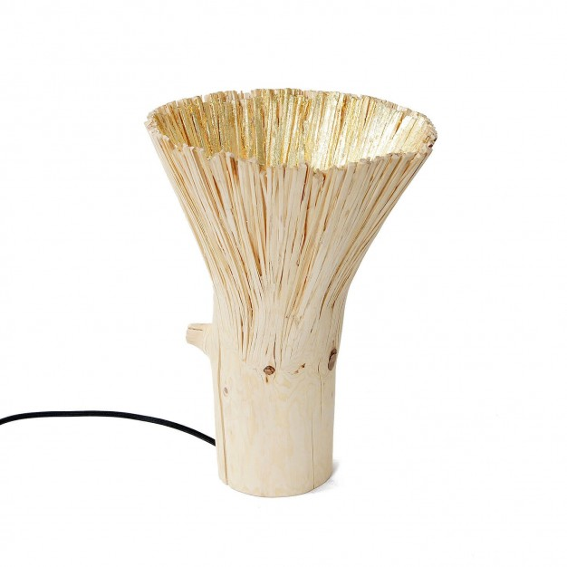 Pressed wood gold table light