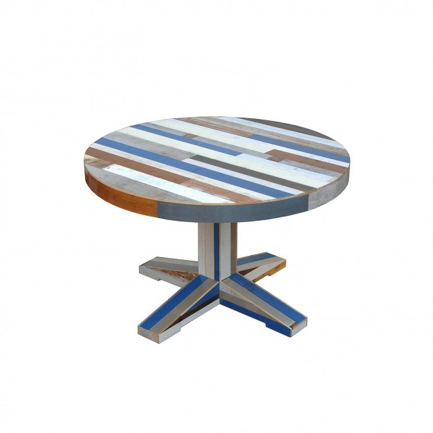 Canteen Table in Scrapwood Round